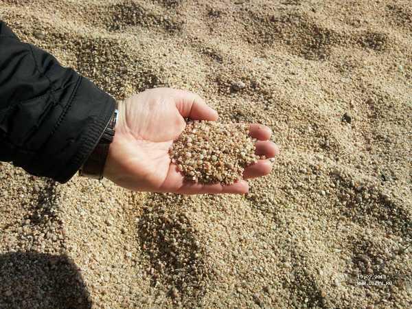 Крупный строительный песок